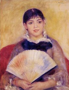 Pierre-Auguste Renoir - Girl with a Fan (also known as Alphonsine Fournaise)