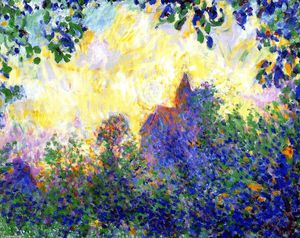 Theodore Earl Butler - Giverny Church, Sunset
