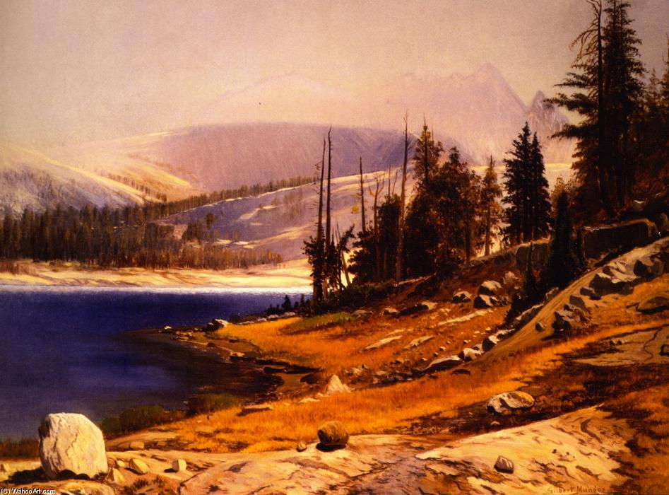 Glacier Lake, Kings Canyon, California, 1876 by Gilbert Munger (1837-1903, United States) | Painting Copy | WahooArt.com