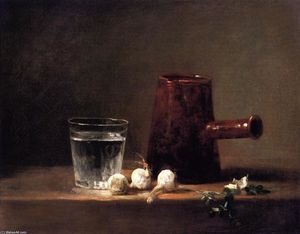 Jean-Baptiste Simeon Chardin - Glass of Water and Coffee Pot