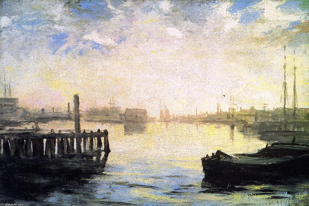 Gloucester Harbor, 1877 by William Morris Hunt (1824-1879, United States) | Museum Quality Reproductions | WahooArt.com