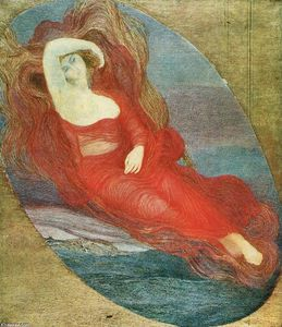 Giovanni Segantini - Goddess of love