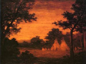 Order Reproductions | The Golden Hour by Ralph Albert Blakelock (1847-1919, United States) | WahooArt.com
