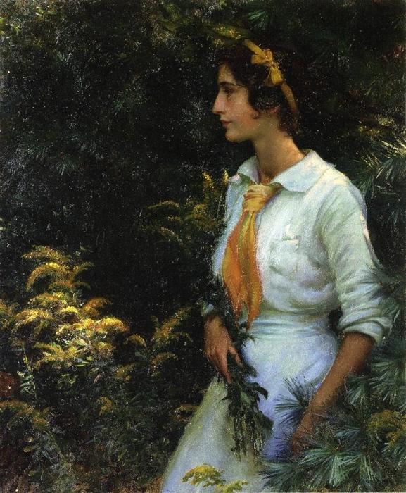 Goldenrod, 1914 by Charles Courtney Curran (1861-1942, United States) | Museum Quality Reproductions | WahooArt.com
