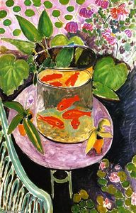 Henri Matisse - Goldfish - (Famous paintings reproduction)