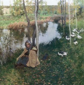 Willard Leroy Metcalf - Goose Girl