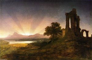 Thomas Cole - Gothic Ruins at Sunset