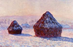 Claude Monet - Grainstacks in the Morning, Snow Effect