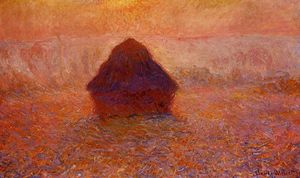 Claude Monet - Grainstack, Sun in the Mist