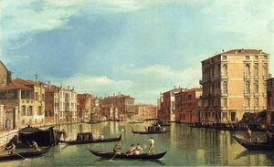 Giovanni Antonio Canal (Canaletto) - Grand Canal Between the Palazzo Bembo and the Palazzo Vendramin