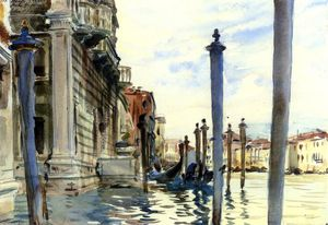 John Singer Sargent - The Grand Canal, Venice (also known as Palazzo Corner Sinelli)