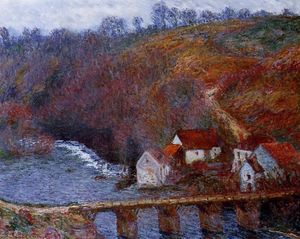 Claude Monet - The Grande Creuse by the Bridge at Vervy