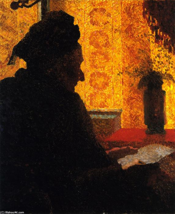 Grandmother Michaud in Silhouette, 1890 by Jean Edouard Vuillard (1868-1940, France) | WahooArt.com
