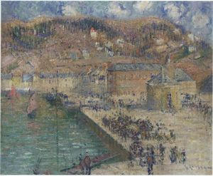 Gustave Loiseau - Grand Quay at Fecamp
