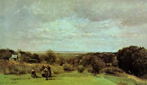 Jean Baptiste Camille Corot - The Grape Harvest at Sevres