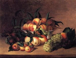 James Peale - Grapes, Apples and Bowl of Peaches