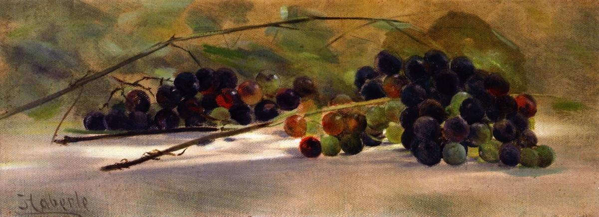 Grapes on a Ledge, 1895 by John Haberle (1856-1933, United States) | Oil Painting | WahooArt.com