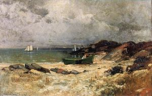 George Henry Smillie - A Gray Day by the Sea
