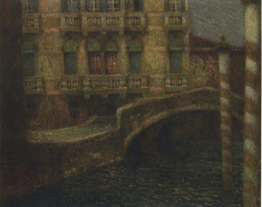 The Gray Palace, Oil On Canvas by Henri Eugène Augustin Le Sidaner (1862-1939, Mauritius)