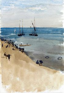 James Abbott Mcneill Whistler - Green and Silver - The Bright Sea, Dieppe