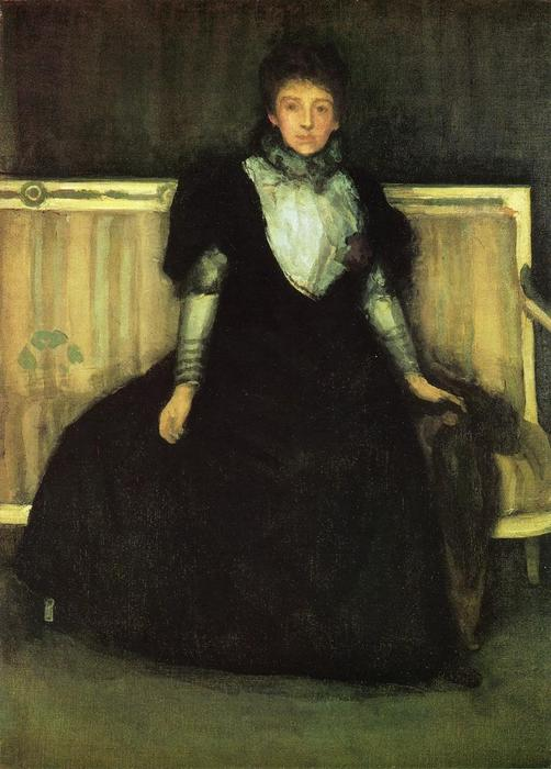 Whistler/'s Mother by James Abbot McNeill Whistler Giclee Repro on Canvas