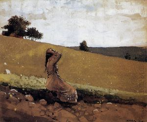 Winslow Homer - The Green Hill (also known as On the Hill)