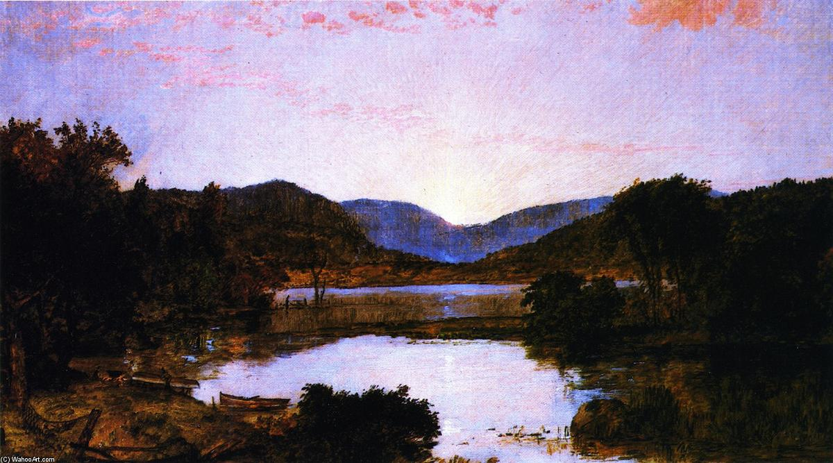 Greenwood Lake, New Jersey, Oil On Canvas by Jasper Francis Cropsey (1823-1900, United States)