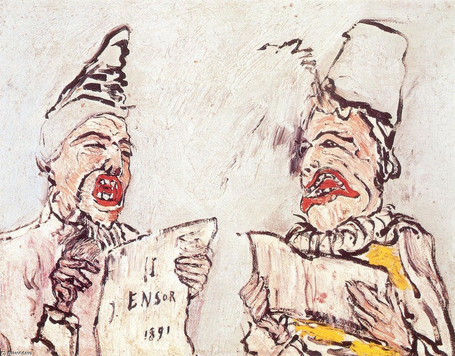 The Grotesque Singers, 1891 by James Ensor (1860-1949, Belgium) | WahooArt.com