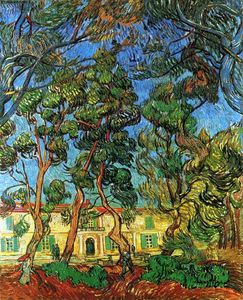 Buy Museum Art Reproductions | The Grounds of the Asylum, 1889 by Vincent Van Gogh (1853-1890, Netherlands) | WahooArt.com