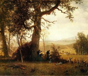 Albert Bierstadt - Guerilla Warfare (also known as Picket Duty in Virginia)