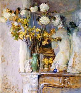 Jean Edouard Vuillard - Guilder Roses and the Venus de Milo