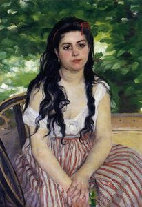 Pierre-Auguste Renoir - The Gypsy Girl (also known as Summer)