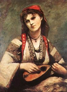 Jean Baptiste Camille Corot - Gypsy with a Mandolin