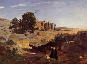 Jean Baptiste Camille Corot - Hagar in the Wilderness