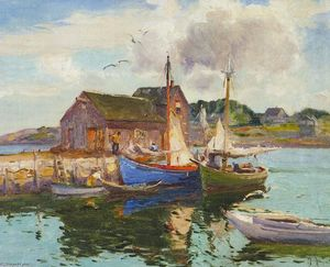 Mathias Joseph Alten - Harbor Reflection Rockport, Massachusetts