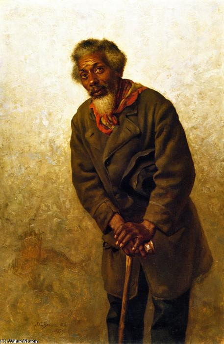 Hard Times, Massa!, Oil On Canvas by John George Brown (1831-1913, United Kingdom)