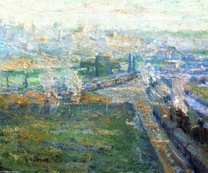 Ernest Lawson - The Harlem River from High Bridge