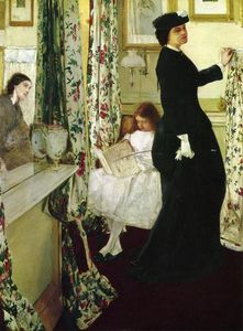 James Abbott Mcneill Whistler - Harmony in Green and Rose: The Music Room