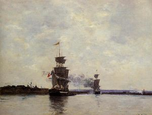 Eugène Louis Boudin - Havre, the Outer Harbor