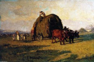 William Brymner - Haying near Quegec, Beaupré