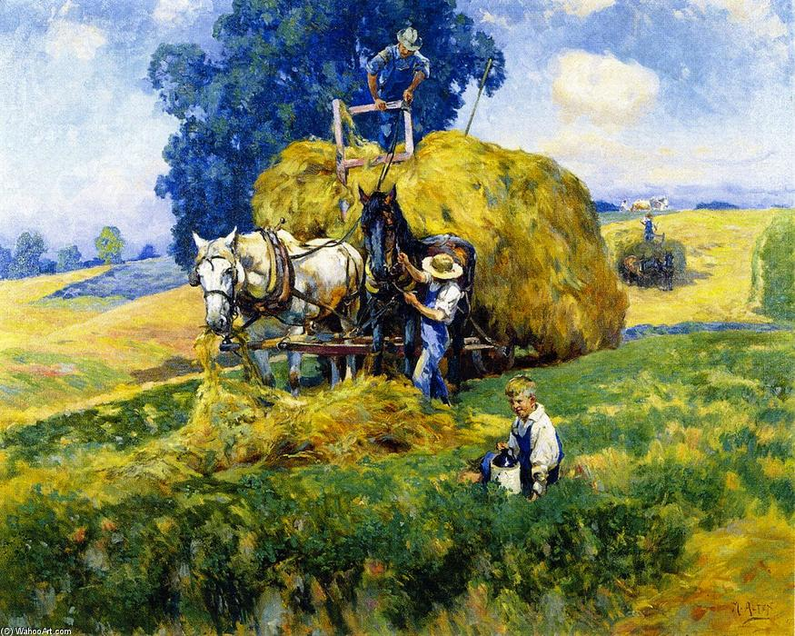 Order Art Reproductions | Haying Time, 1926 by Mathias Joseph Alten (1871-1938) | WahooArt.com
