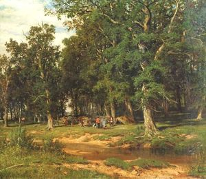 Ivan Ivanovich Shishkin - Haymaking in oak grove