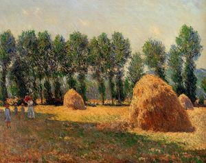 Claude Monet - Haystacks at Giverny