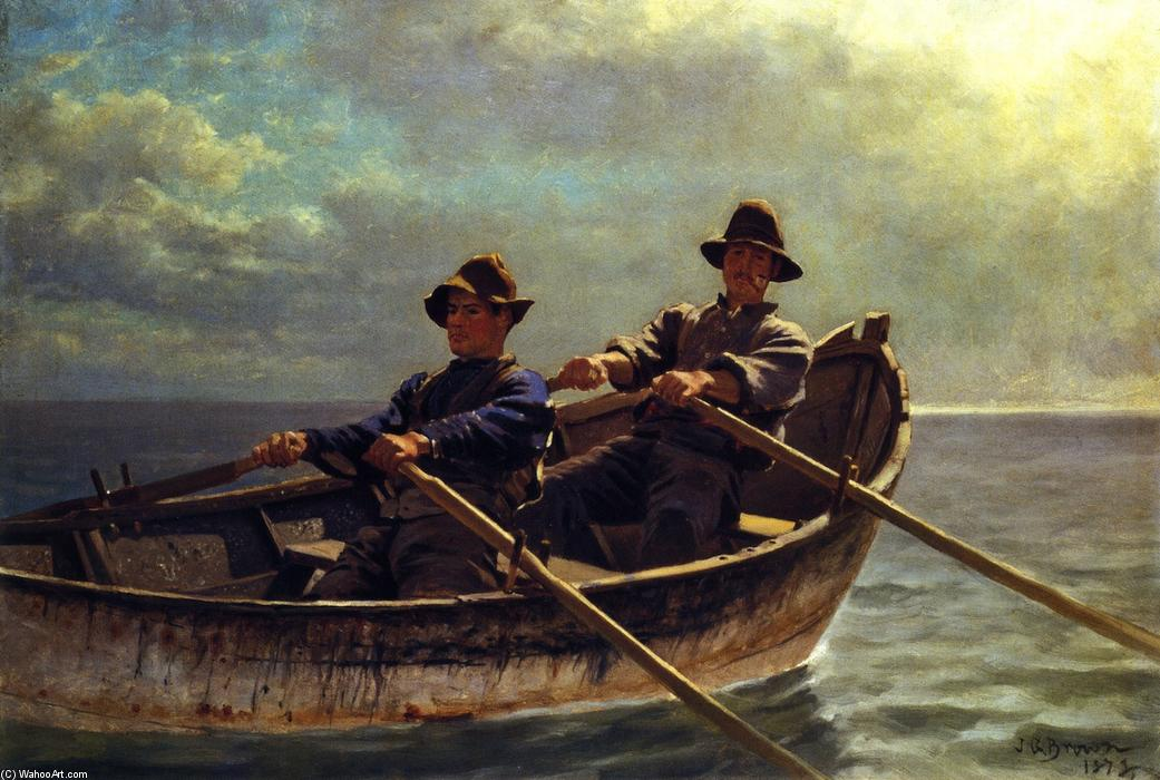 Heading Out, Oil On Canvas by John George Brown (1831-1913, United Kingdom)