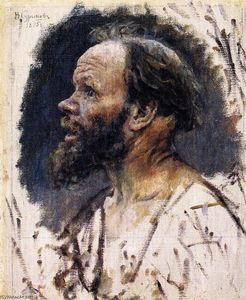 Vasili Ivanovich Surikov - Head of a Fool