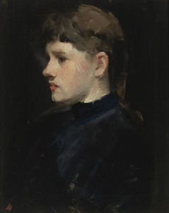 Frank Duveneck - Head of a Girl