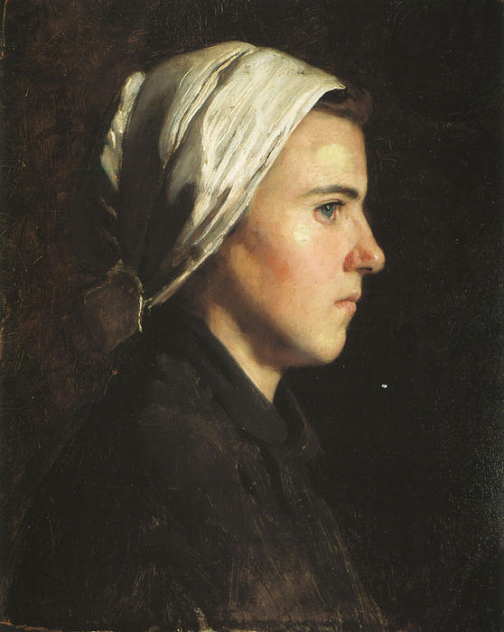 Head of a Woman, Oil On Canvas by Cecilia Beaux (1855-1942, United States)