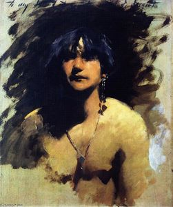 John Singer Sargent - Head of a Young Woman (also known as Native Woman)