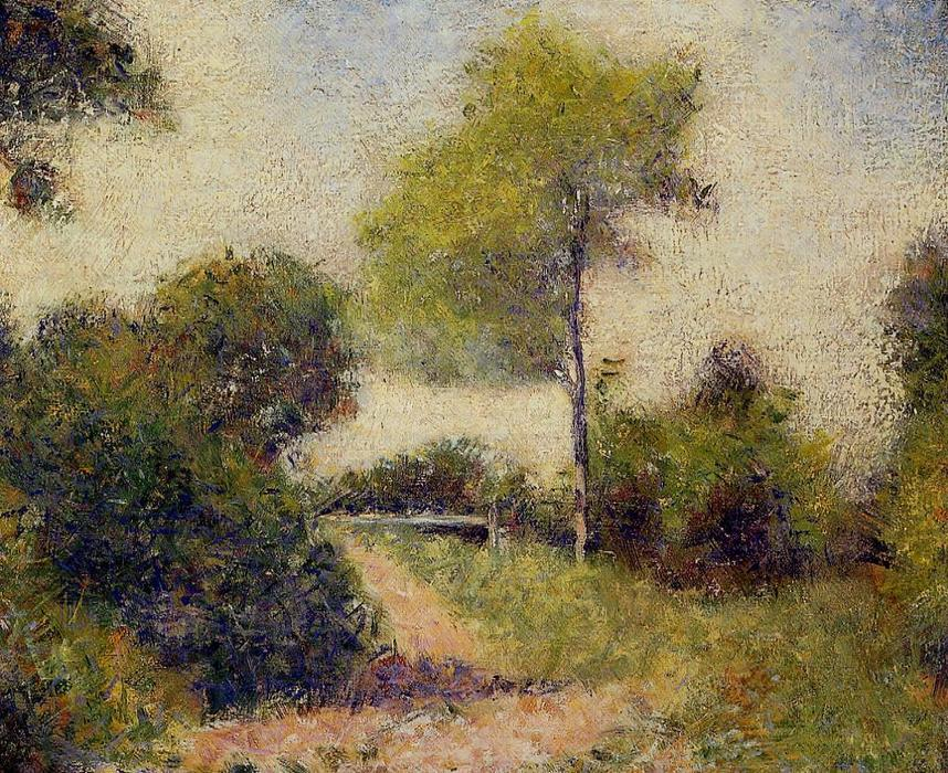 The Hedge (also known as The Clearing), Oil On Canvas by Georges Pierre Seurat (1859-1891, France)