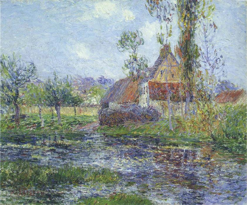 Hendreville by the Eure River by Gustave Loiseau (1865-1935, France) | Art Reproduction | WahooArt.com